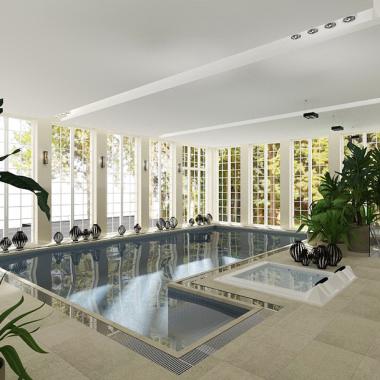 basen przy pałacu